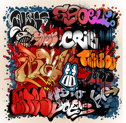 graffiti street art background