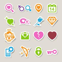 Valentine's day icons set.