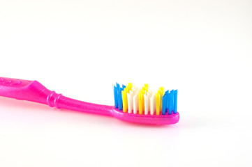 Tooth-brush over white