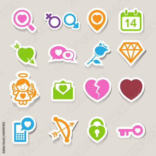 Valentine's day icons set.