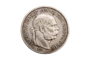 coin showing austrian emperor Franz Joseph, Austria, 5 corona