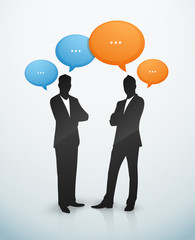 Businessman discussion