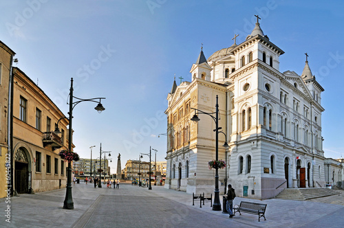 Zdjęcia na płótnie, fototapety na wymiar, obrazy na ścianę : Piotrkowska Street -Stitched Panorama