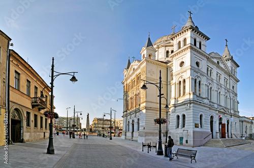 Fototapety, obrazy : Piotrkowska Street -Stitched Panorama