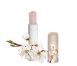 Chapstick with sakura flowers.