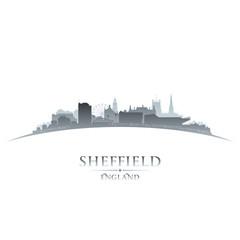 Sheffield England city skyline silhouette white background