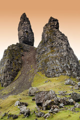 Old Man of Storr on the Isle of Skye ,Scotland
