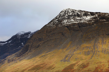 Autumn colours in Cuilin Mountains, Island of Skye, Europe