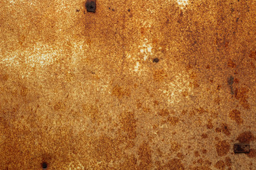 brown rust on the metal sheet texture