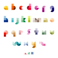 modern abstract font set