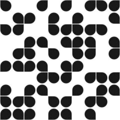 modern geometric shapes seamless pattern