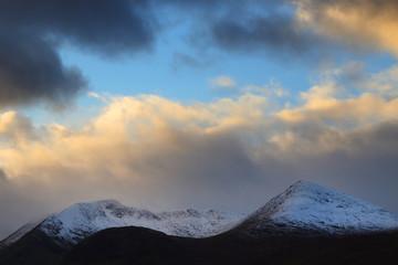 Alpine landscape in Cuillin Mountains, Scotland, Europe