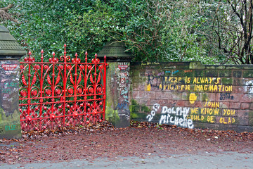 """""""The Beatles"""" heritage trail, Strawberry Field Gates"""