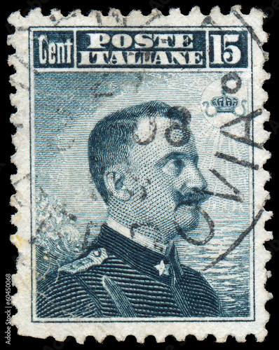 ITALY - CIRCA 1910: A stamp printed in Italy shows image of King