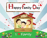 family day card-happy family happy