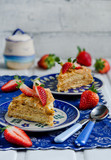 "Layer cake ""Napoleon"" ; with strawberries"