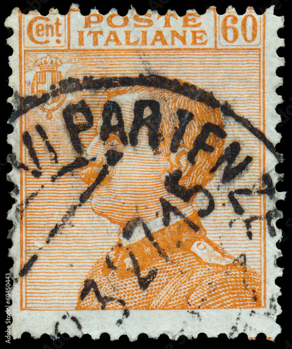 ITALY - CIRCA 1906: A stamp printed in Italy, shows the King of