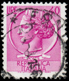 ITALY - CIRCA 1953: A stamp printed in Italy shows Italia Turrit