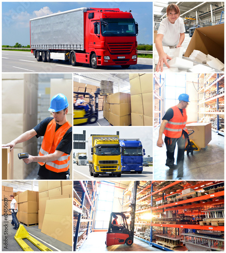 Collage Logistics and shipping