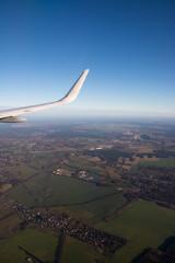 Landeanflug Berlin / Brandenburg, Deutschland