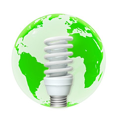 Ökostrom Energiesparlampe - 3d Render