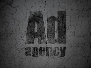 Marketing concept: Ad Agency on grunge wall background