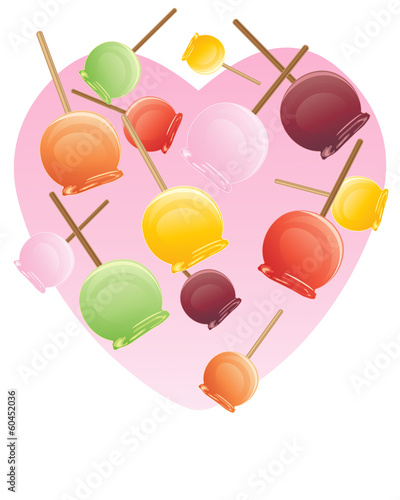 caramel apples background