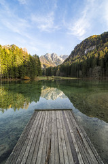 View from pier on a Jezersko lake