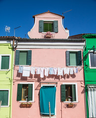 Laundry on Pink Plaster in Burano