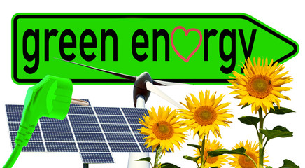 Schild - green energy