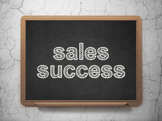 Marketing concept: Sales Success on chalkboard background