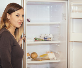 woman fridge