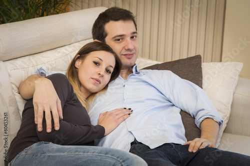 lovers couple sofa