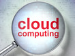 Cloud computing concept: Cloud Computing with optical glass