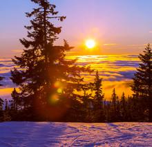hiver dans les montagnes