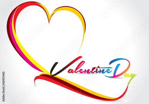 Vector Wave Love Card