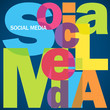 """SOCIAL MEDIA"" Letter Collage (networking information society)"