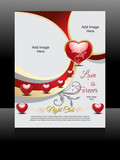 Vector love Flyer Design