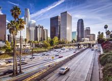 """Постер, картина, фотообои """"Downtown Los Angeles, California Cityscape"""""""