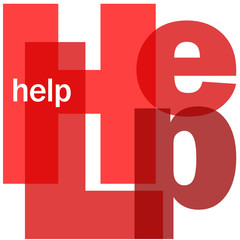 """HELP"" Letter Collage (information support customer service)"