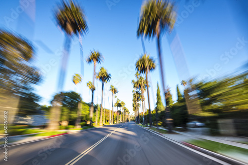 Fotobehang Los Angeles Beverly Hills Motion Blur