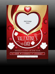 Vector Valentine Day Flyer Design