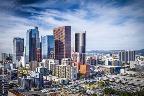 Fotobehang Los Angeles Downtown Los Angeles, California Skyline