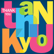 """""""THANK YOU"""" Letter Collage (card thanks greetings joy gratitude)"""