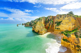 Idyllic beach landscape at Lagos, Algarve, (Portugal)