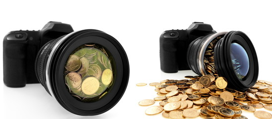 Slr camera, creative photography, art, business and way of life
