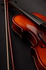 Violin and sheet music closeup