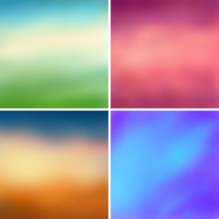 Abstract colorful blurred vector backgrounds set 2