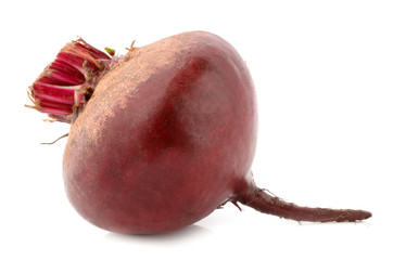 Beets on a white background