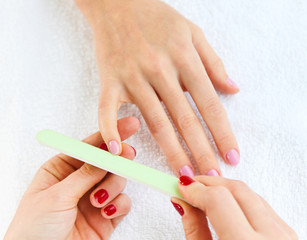 Gentle care of nails in the beauty salon